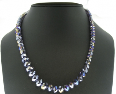 GRADUATED CRYSTAL BEADED NECKLACE