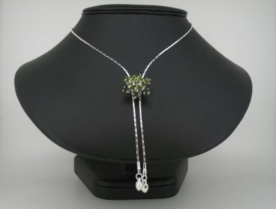 SILVER PLATED SLIDER NECKLACE