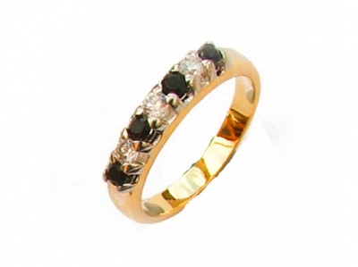 TWO-TONE GOLD-RHODIUM PLATED RING