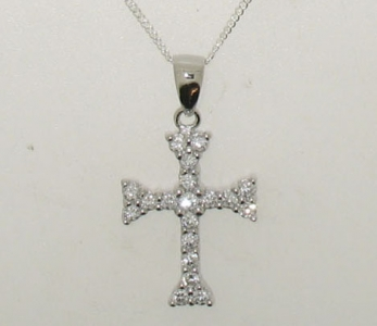 STERLING SILVER ANTIQUE STYLE CROSS.