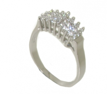 STERLING SILVER MITRE RING