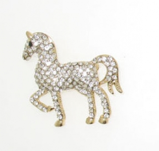 GOLD PLATED DRESSAGE HORSE
