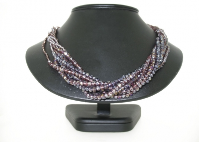 8 ROW BEADED CRYSTAL NECK