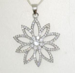 925 DAISY STYLE STERLING SILVER PENDANT