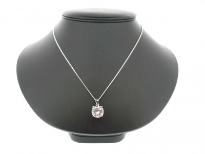 ROUND CLEAR CZ PENDANT
