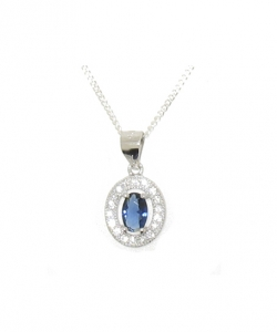 925 STERLING SILVER CZ PENDANT.