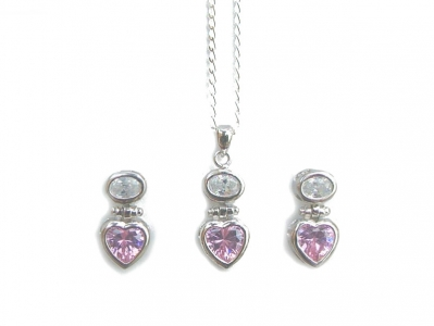 925 STERLING SILVER CZ SET..