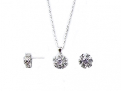 925 STERLING DAISY STYLE SET.