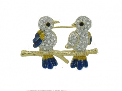 BROOCH WITH PAIR OF BIRDS