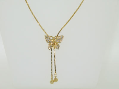 GOLD PLATED SLIDING NECKLACE