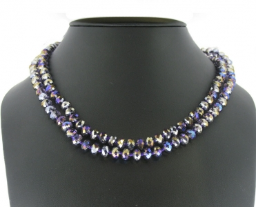 LONG CRYSTAL BEADED NECKLACES.